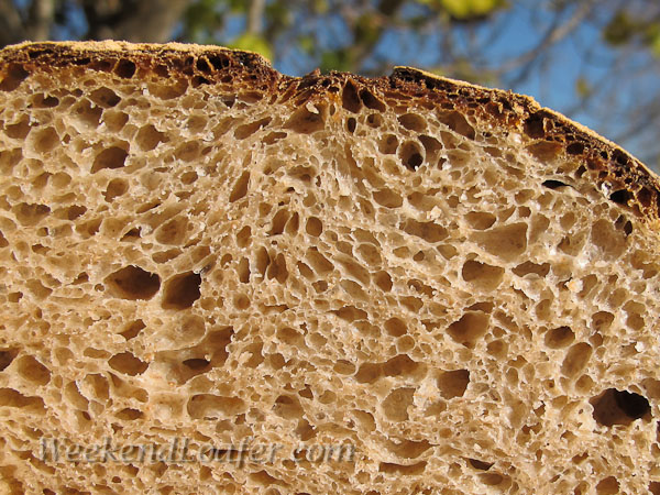 Miche with whole wheat,spelt and quinoa-cut